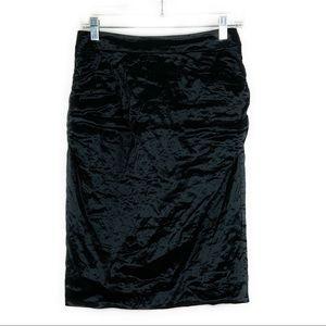 BCBGMaxazria Black Pencil Metallic Skirt